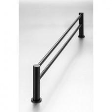 Demola Double Towel Rail Black  - 760mm