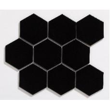 Large Hexagon Black Matt (95 x 110mm)