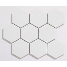 Large Hexagon White Matt (95 x 110mm)