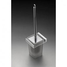 Messina Glass Toilet Brush Set Chrome