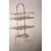 Bathroom Rack - 2 Tier Soap Rack Chrome