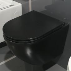Sydney Matt Black Wall Hung Toilet