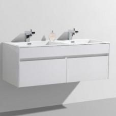 Simplicity 1200 Slimline Cupboard & Basin White