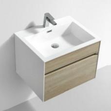 Simplicity 600 Slimline Cupboard & Basin Sona Oak