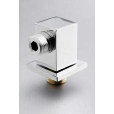 Wall Outlet Square Chrome