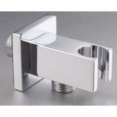 Wall Outlet Square with Bracket Chrome
