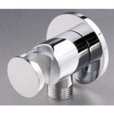 Wall Outlet Round with Bracket Chrome